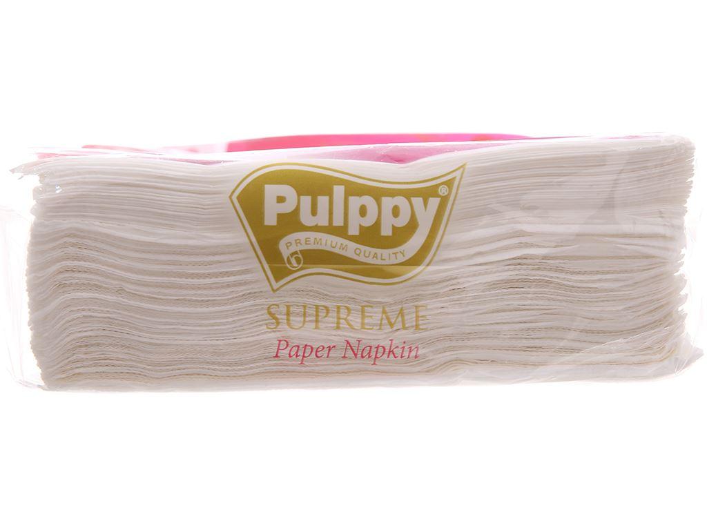 Khăn ăn cao cấp Pulppy Supreme gói 80 tờ 2 lớp 4