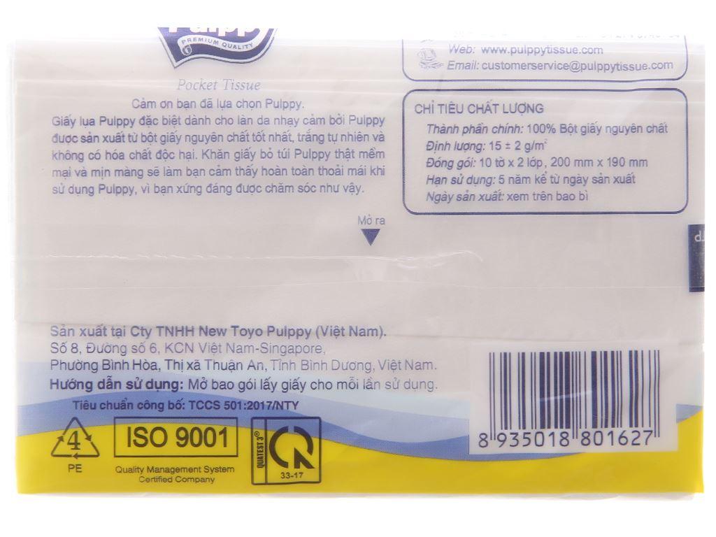 6 gói khăn giấy bỏ túi Pulppy 2 lớp 4