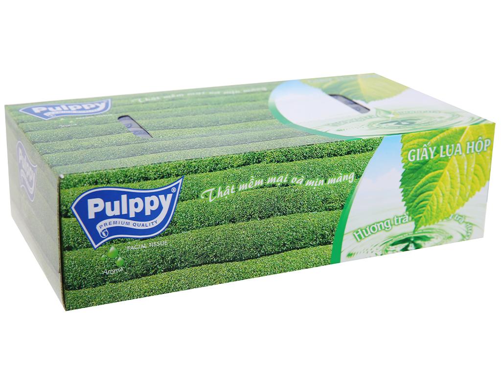 Khăn giấy lụa Pulppy hộp 100 tờ 2 lớp 2