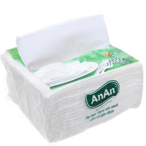Khăn giấy ăn An An gói 100 tờ 1 lớp