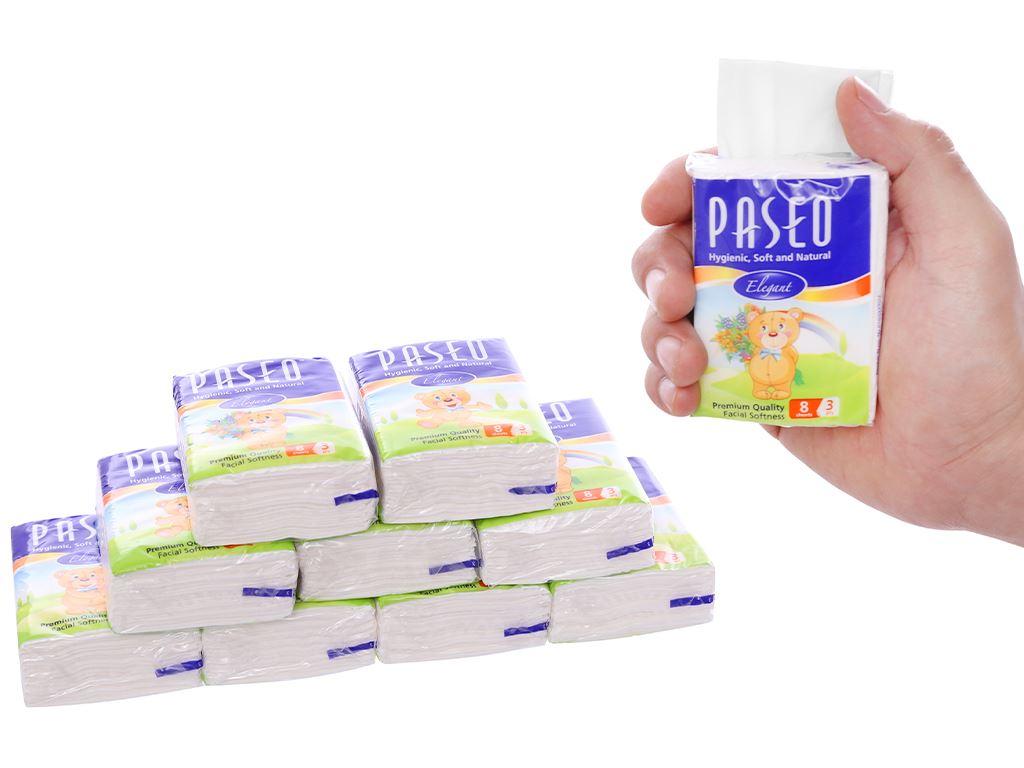 10 gói khăn giấy bỏ túi Paseo 3 lớp 5