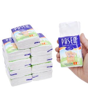 10 gói khăn giấy bỏ túi Paseo 3 lớp