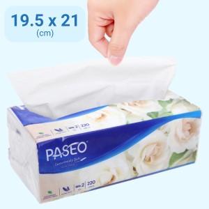 Khăn giấy Paseo Luxuriously Soft 2 lớp gói 220 tờ