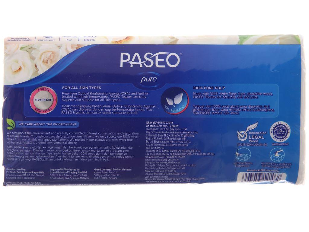 Khăn giấy Paseo Luxuriously Soft gói 220 tờ 2 lớp 3