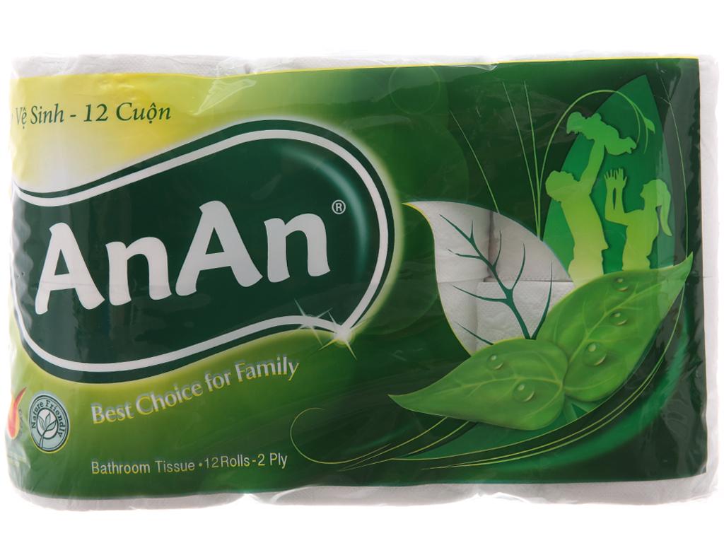 12 cuộn giấy vệ sinh An An 2 lớp 2