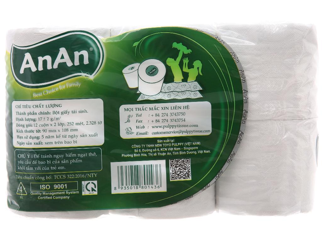 12 cuộn giấy vệ sinh An An 2 lớp 3