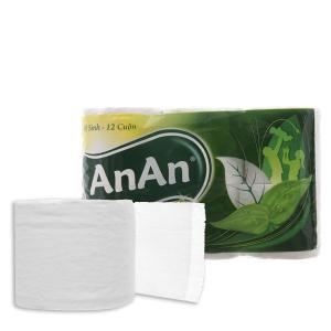 12 cuộn giấy vệ sinh An An 2 lớp