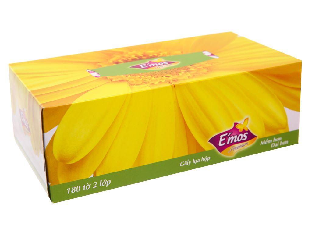 Khăn giấy lụa E'mos Premium 2 lớp hộp 180 tờ 1