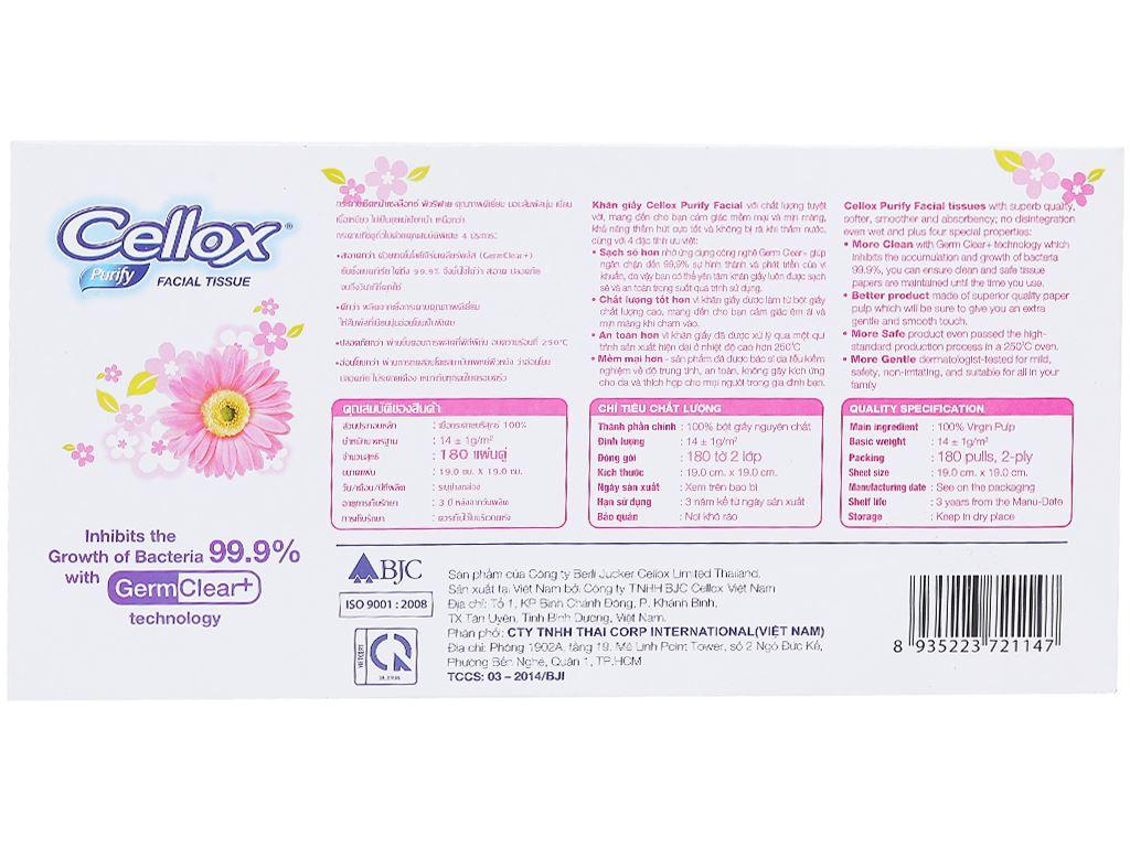 Khăn giấy Cellox Purify 2 lớp hộp 180 tờ 3