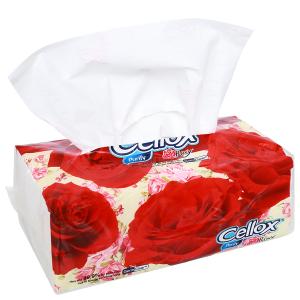 Khăn giấy ăn Cellox Purify Rosy gói 180 tờ 2 lớp