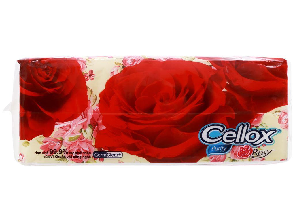 Khăn giấy ăn Cellox Purify Rosy gói 180 tờ 2 lớp 3