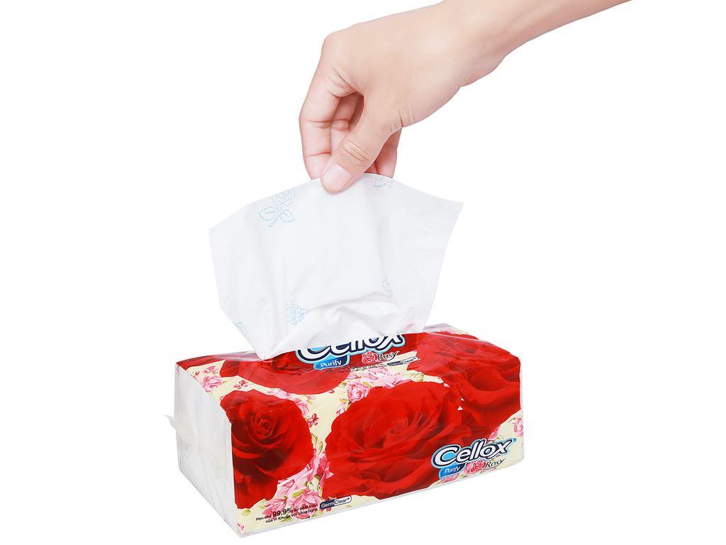 Khăn giấy ăn Cellox Purify Rosy gói 180 tờ 2 lớp 8