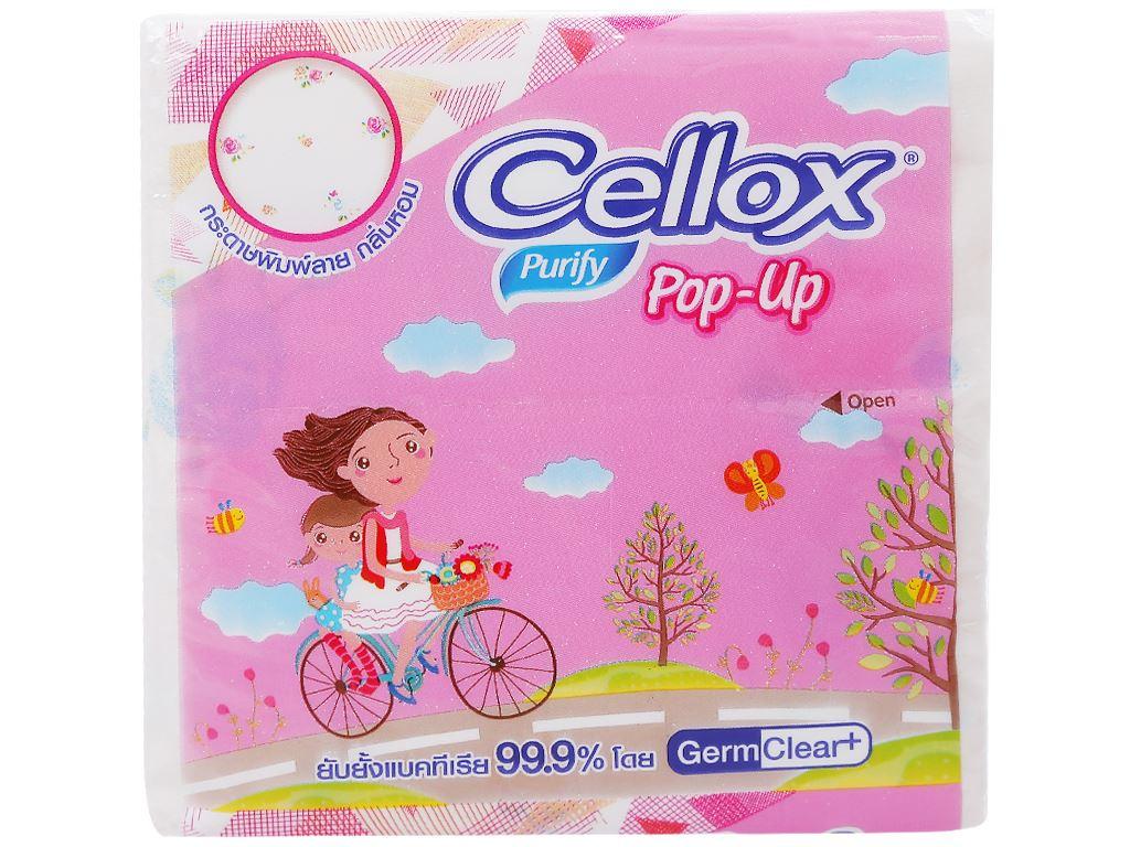 Khăn giấy ăn Cellox Purify Pop-Up gói 96 tờ 1 lớp 1
