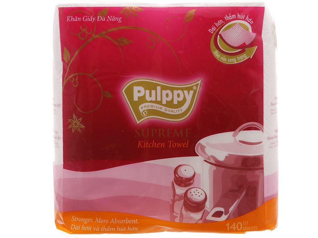 2 cuộn khăn giấy đa năng Pulppy Supreme 2 lớp 2