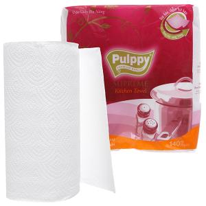 2 cuộn khăn giấy đa năng Pulppy Supreme 2 lớp