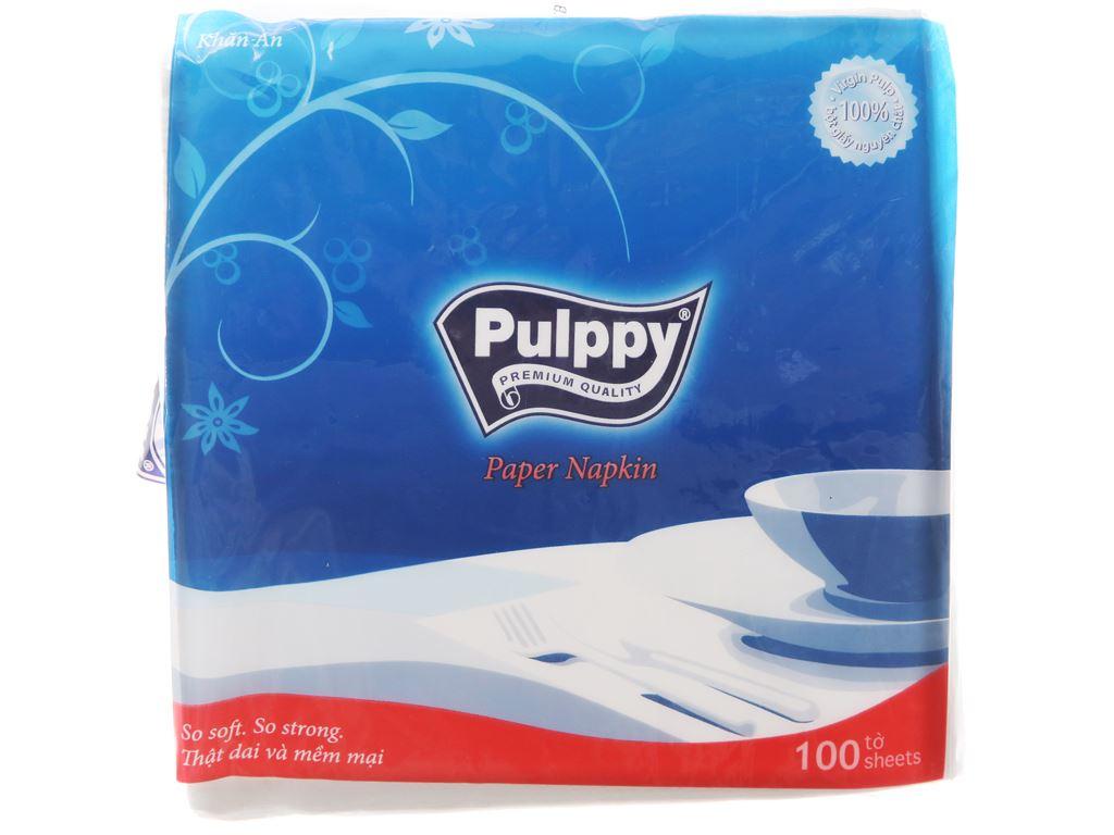 Khăn ăn Pulppy 1 lớp gói 100 tờ 2