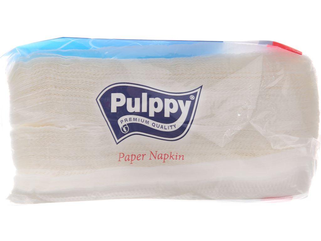 Khăn giấy ăn Pulppy gói 100 tờ 1 lớp 4