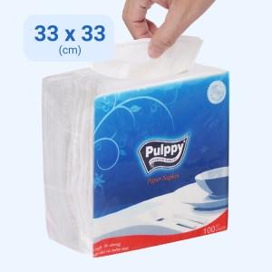 Khăn giấy ăn Pulppy 1 lớp gói 100 tờ