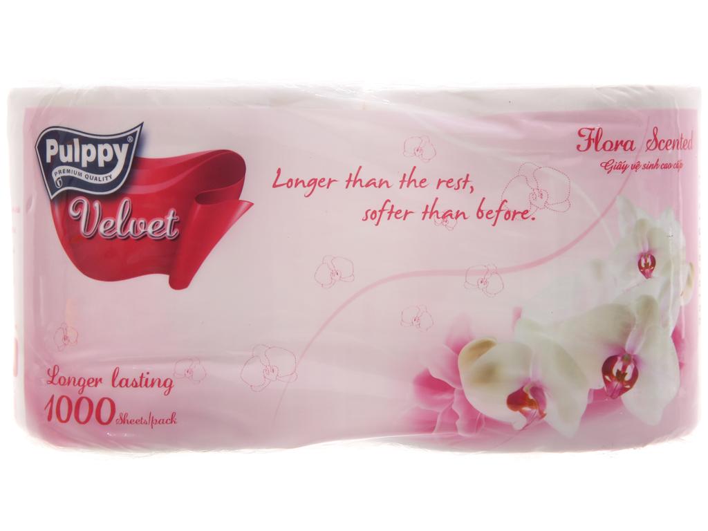 2 cuộn giấy vệ sinh Pulppy Velvet hương tự nhiên 2 lớp 2