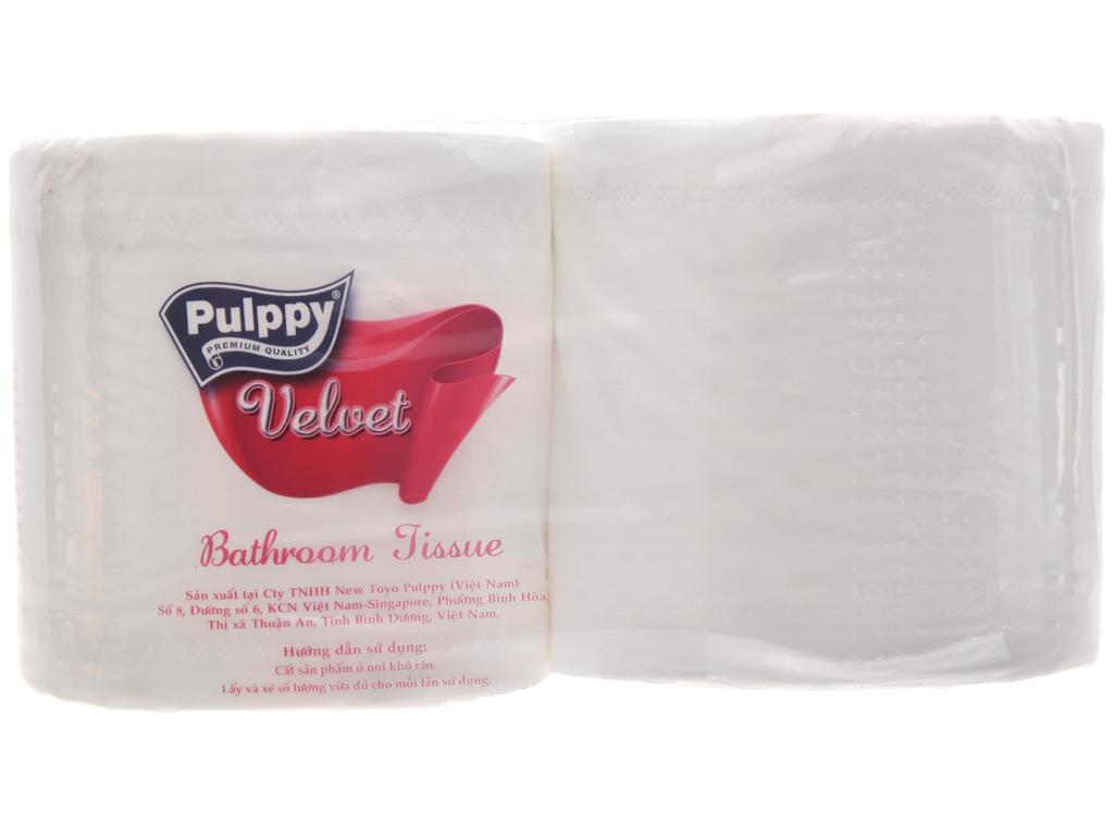2 cuộn giấy vệ sinh Pulppy Velvet hương tự nhiên 2 lớp 3