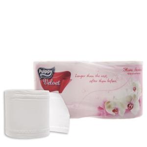 2 cuộn giấy vệ sinh Pulppy Velvet hương tự nhiên 2 lớp