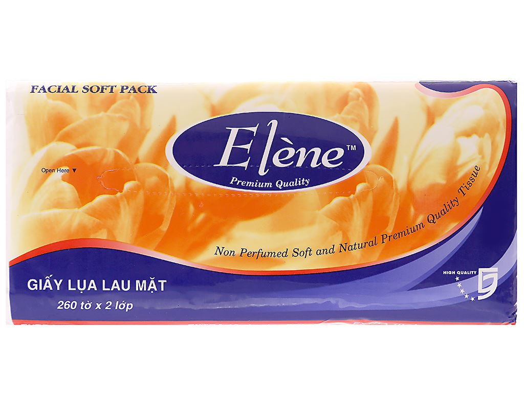 Giấy lụa lau mặt Elène gói 260 tờ 2 lớp 2
