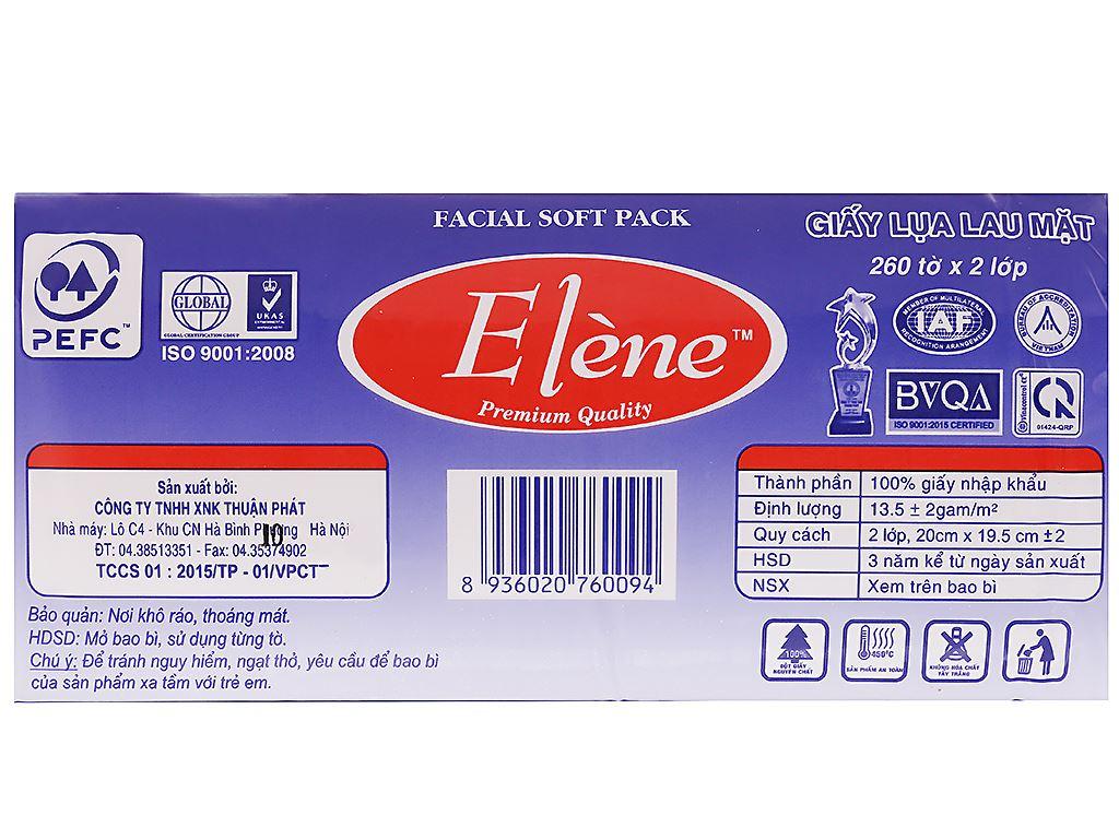 Giấy lụa lau mặt Elène gói 260 tờ 2 lớp 3