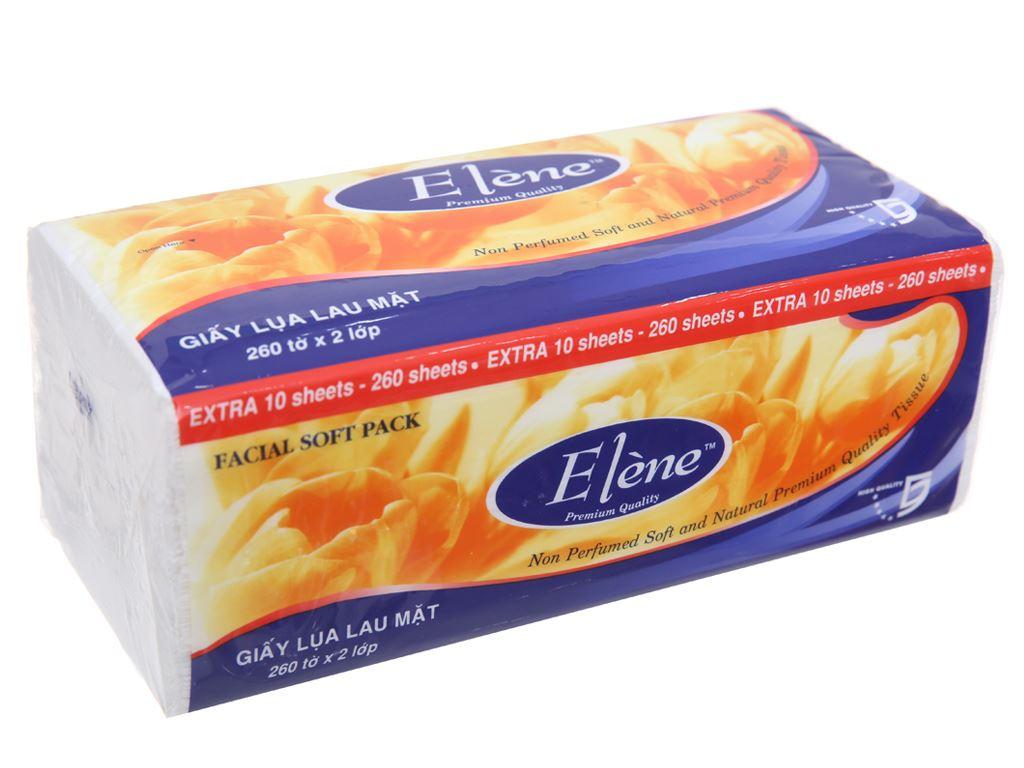 Giấy lụa lau mặt Elène gói 260 tờ 2 lớp 4