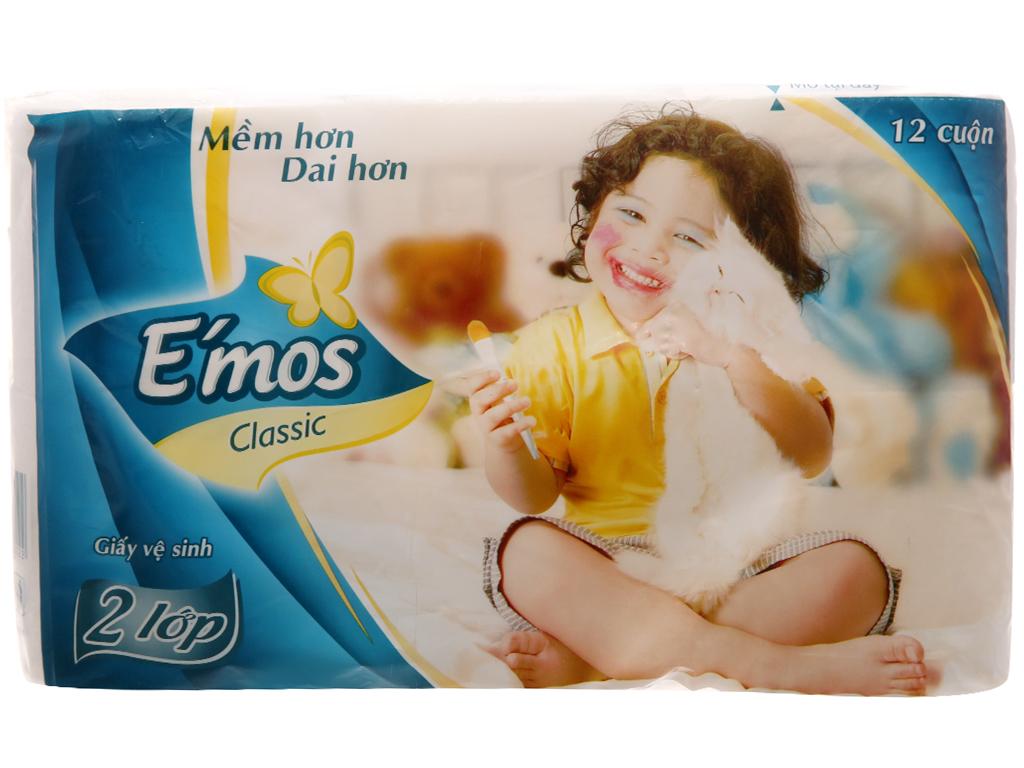 12 cuộn giấy vệ sinh E'mos Classic 2 lớp 1