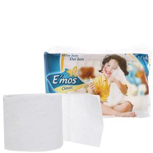 12 cuộn giấy vệ sinh E'mos Classic 2 lớp