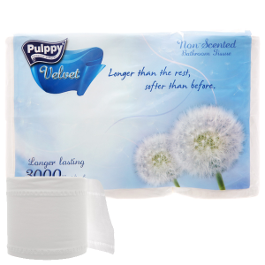 6 cuộn giấy vệ sinh Pulppy Velvet 2 lớp
