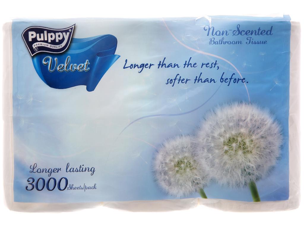 6 cuộn giấy vệ sinh Pulppy Velvet 2 lớp 2