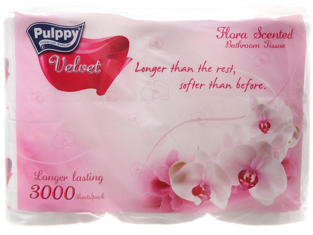 6 cuộn giấy vệ sinh Pulppy Velvet hương tự nhiên 2 lớp 2