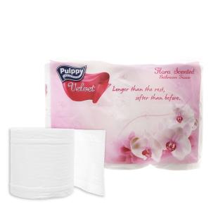 6 cuộn giấy vệ sinh Pulppy Velvet hương tự nhiên 2 lớp