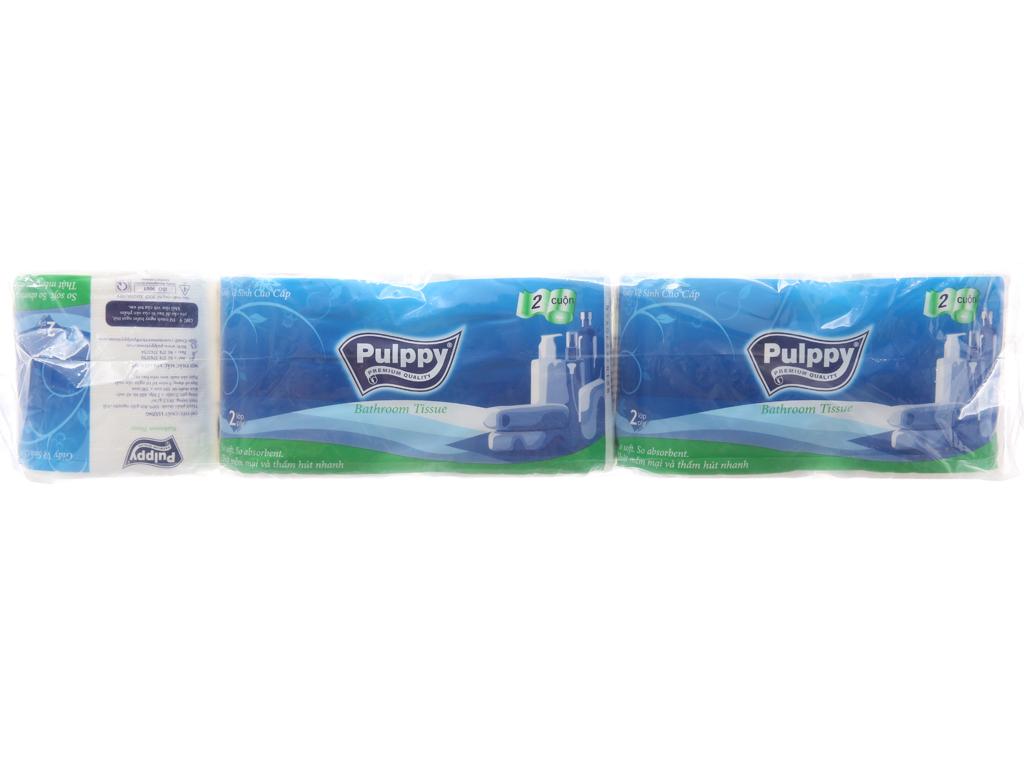 10 cuộn giấy vệ sinh Pulppy 2 lớp 1