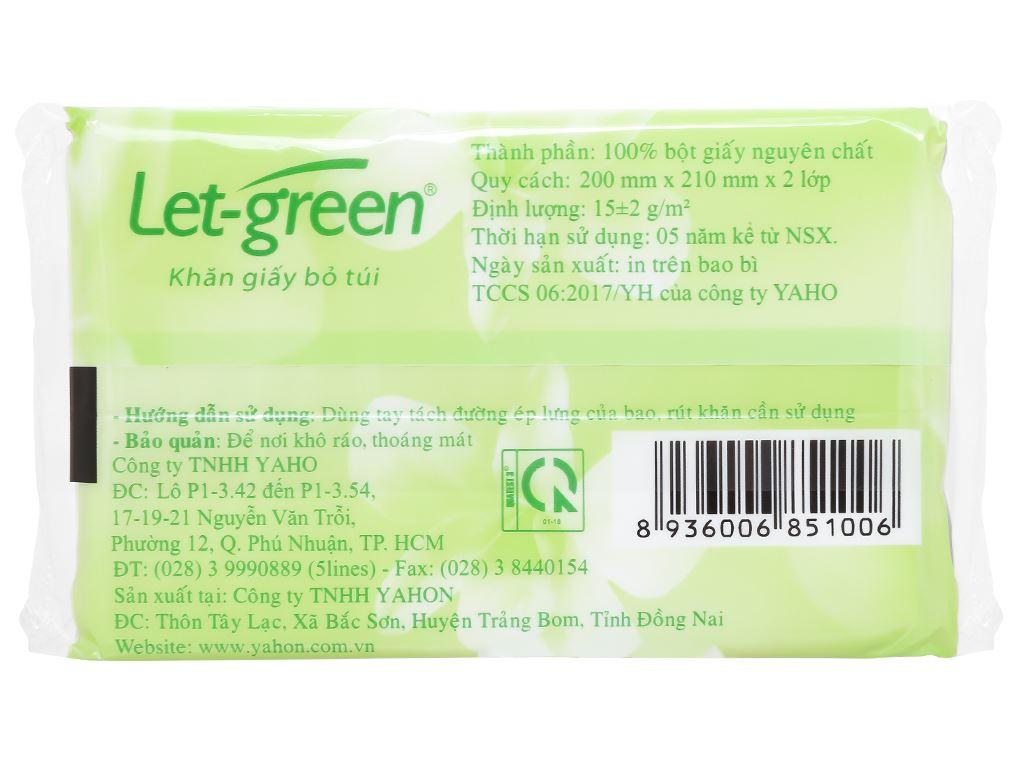9 gói khăn giấy bỏ túi Let-green 2 lớp 3