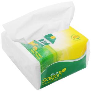 Khăn giấy ăn Saigon Eco gói 100 tờ 1 lớp