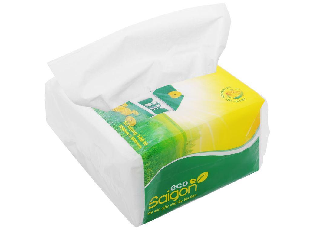 Khăn giấy ăn Saigon Eco gói 100 tờ 1 lớp 6