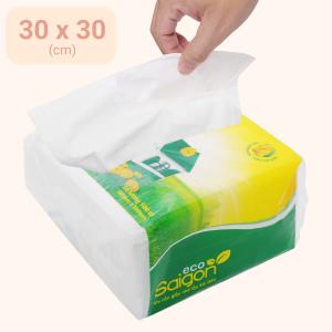 Khăn giấy ăn Saigon Eco 1 lớp gói 100 tờ