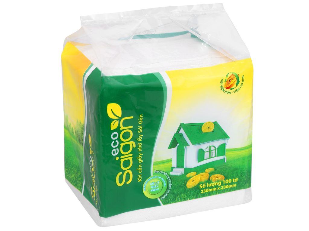Khăn giấy Saigon 1 lớp gói 100 tờ 1