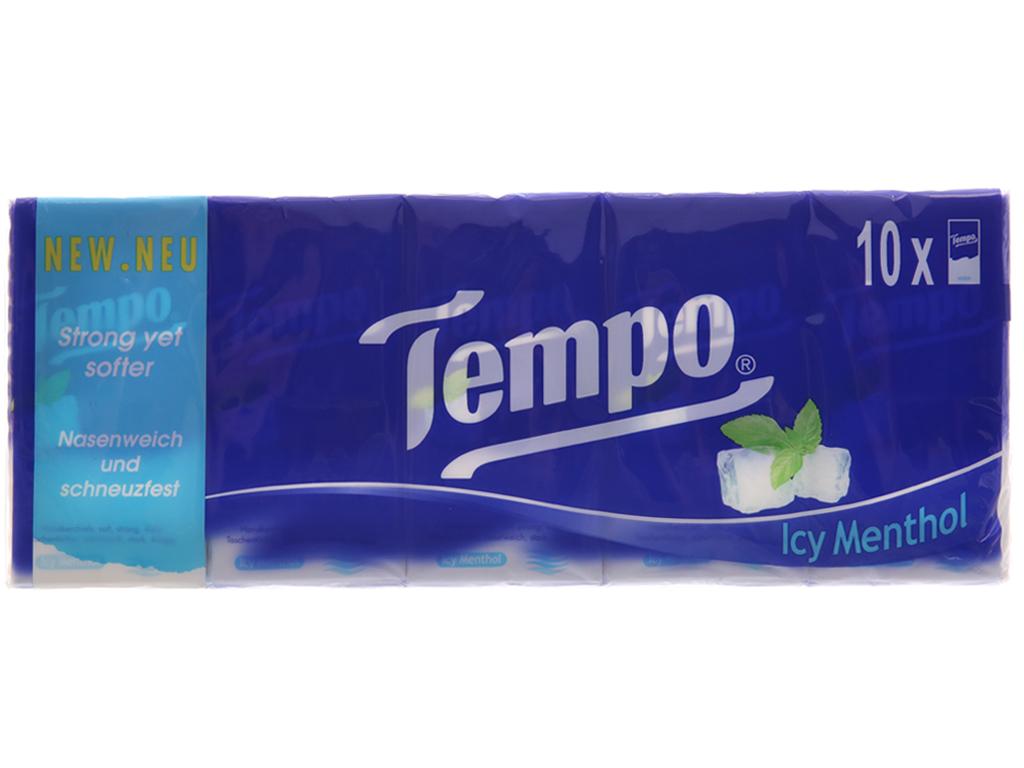 10 gói khăn giấy Tempo hương bạc hà 4 lớp 2