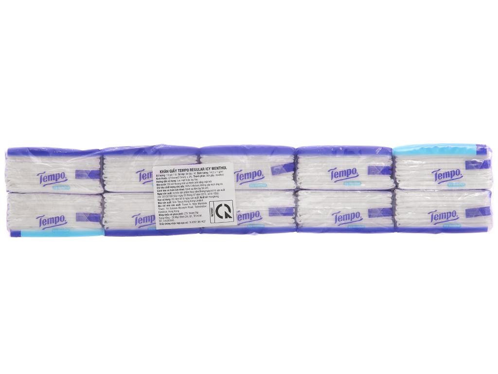 10 gói khăn giấy Tempo hương bạc hà 4 lớp 3