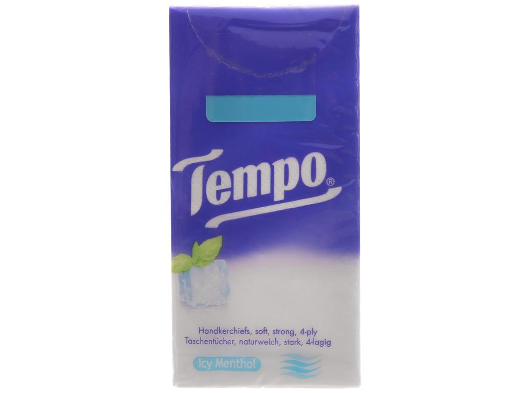 10 gói khăn giấy Tempo hương bạc hà 4 lớp 4