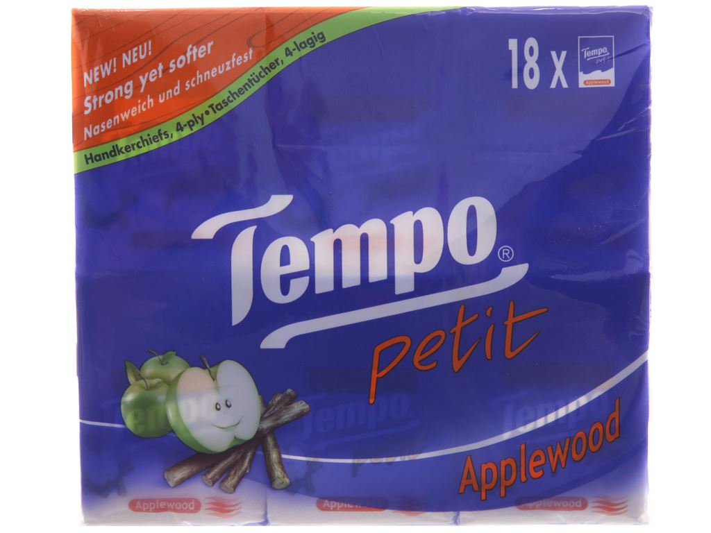 18 gói khăn giấy Tempo Petit hương AppleWood 4 lớp 2
