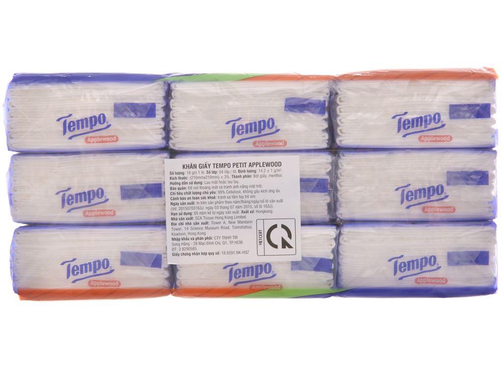 18 gói khăn giấy Tempo Petit hương AppleWood 4 lớp 3