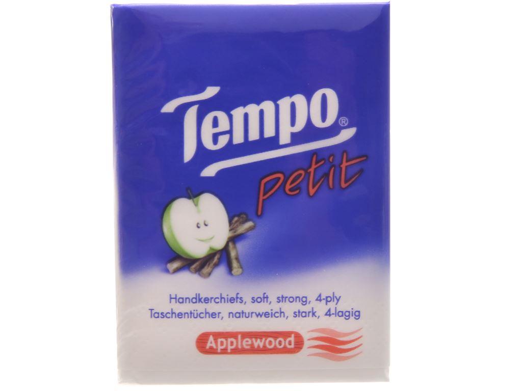 18 gói khăn giấy Tempo Petit hương AppleWood 4 lớp 4