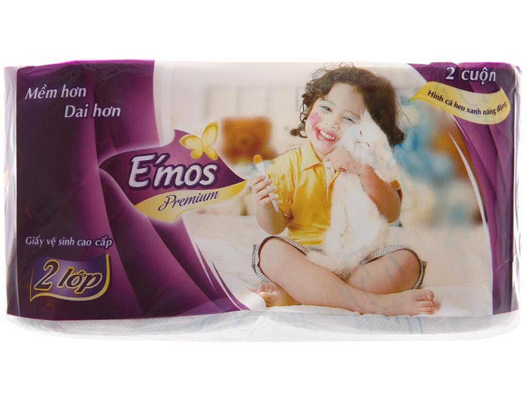 10 cuộn giấy vệ sinh E'mos 2 lớp 4