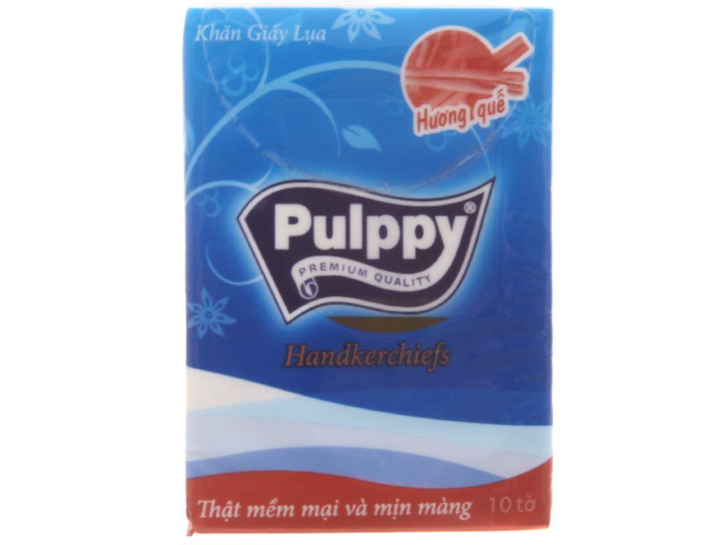 6 gói khăn giấy lụa Pulppy hương quế 3 lớp 3
