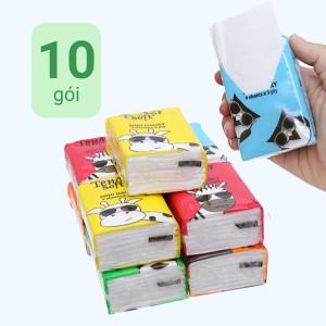 Khăn giấy bỏ túi Tender Soft 3 lớp 10 gói x 9 tờ