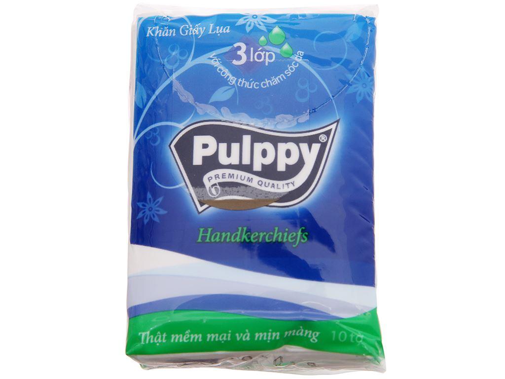 Khăn giấy bỏ túi Pulppy 3 lớp 10 gói x 10 tờ 2